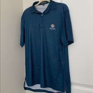 Peter Millar Small Pacific Dunes Gold Polo